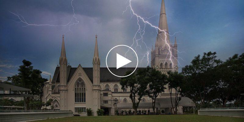 church-lightning
